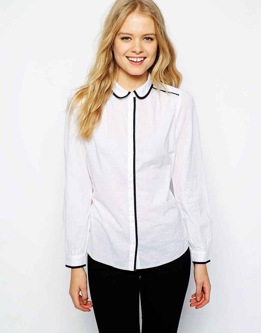 jack wills white shirt black edging