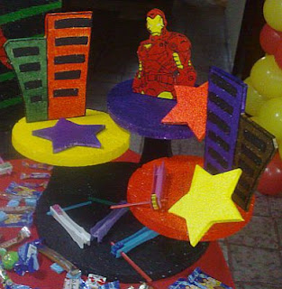 Centros de Mesa con Iron Man, parte 2