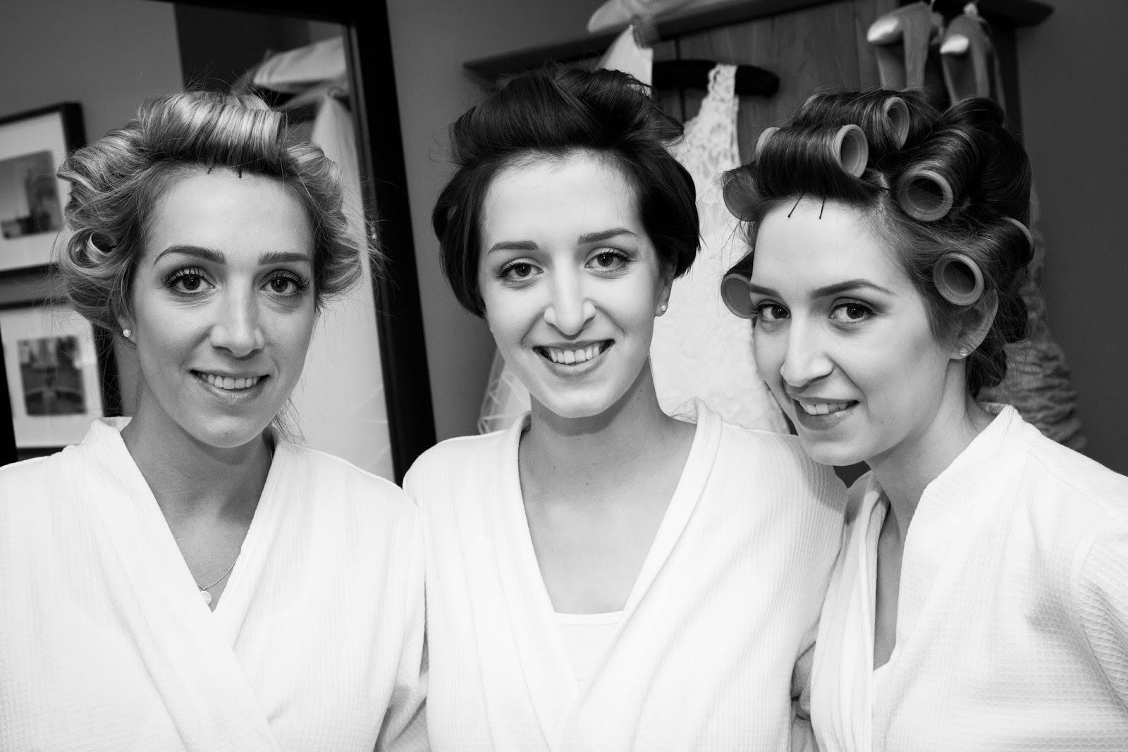 Morning wedding preparations, hair and make up, bridal hair, bridal make up.