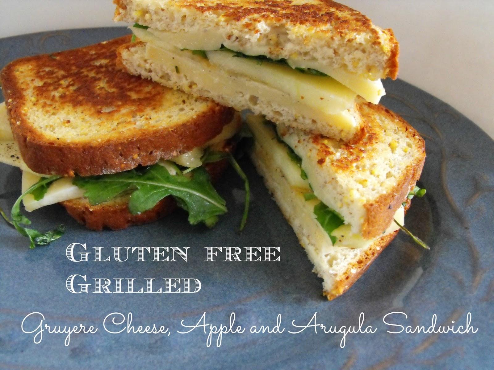 Gruyere cheese, apple arugula grilled cheese