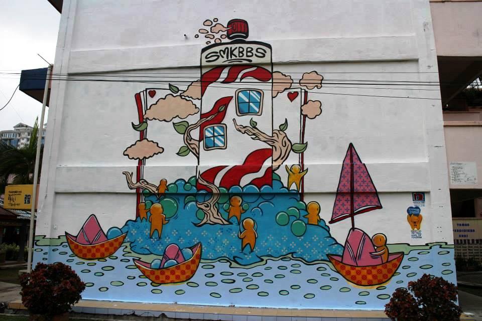 art kl itique gerakan seni 2015 smk bandar baru sentul On mural sekolah rendah