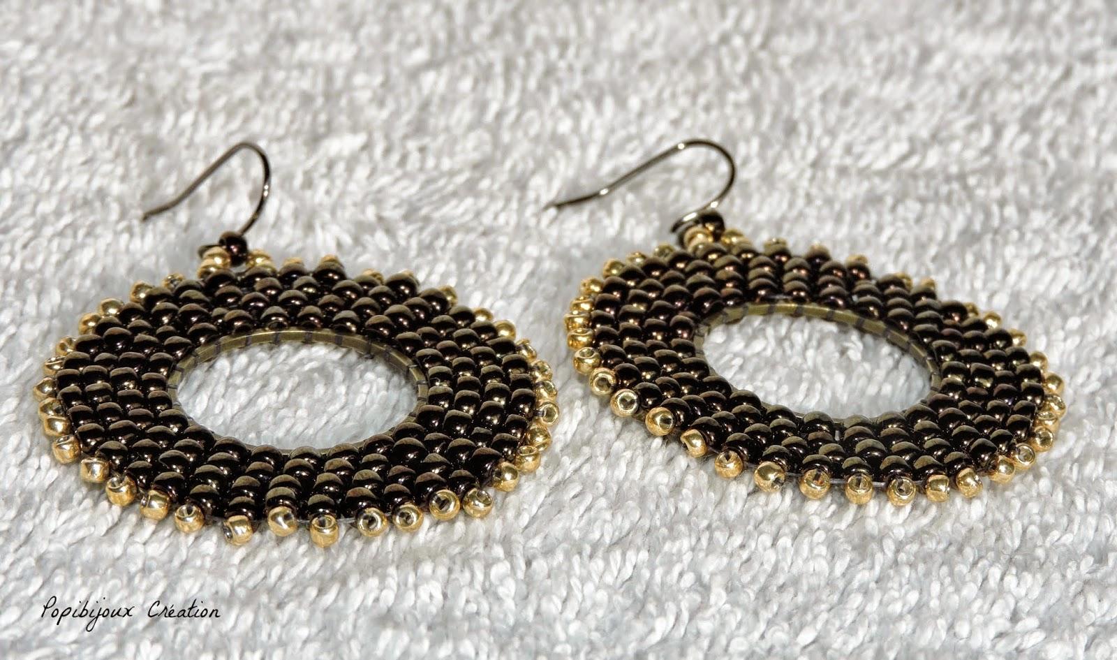 Les creations de popibijoux tuto boucles d 39 oreille anneaux tisses - Tuto boucle d oreille perle ...