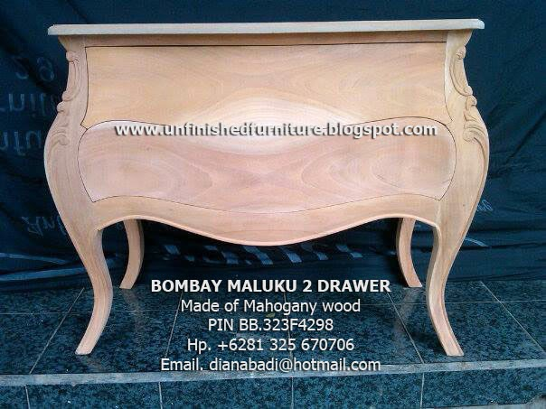 Unfinished Mahogany Furniture Unfinished Classic Bombay Maluku Cabinet 2 Drawer Mahogany Furniture
