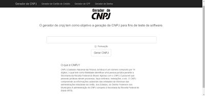 GERADOR DE CNPJ ONLINE