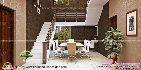 Dining room under staircase