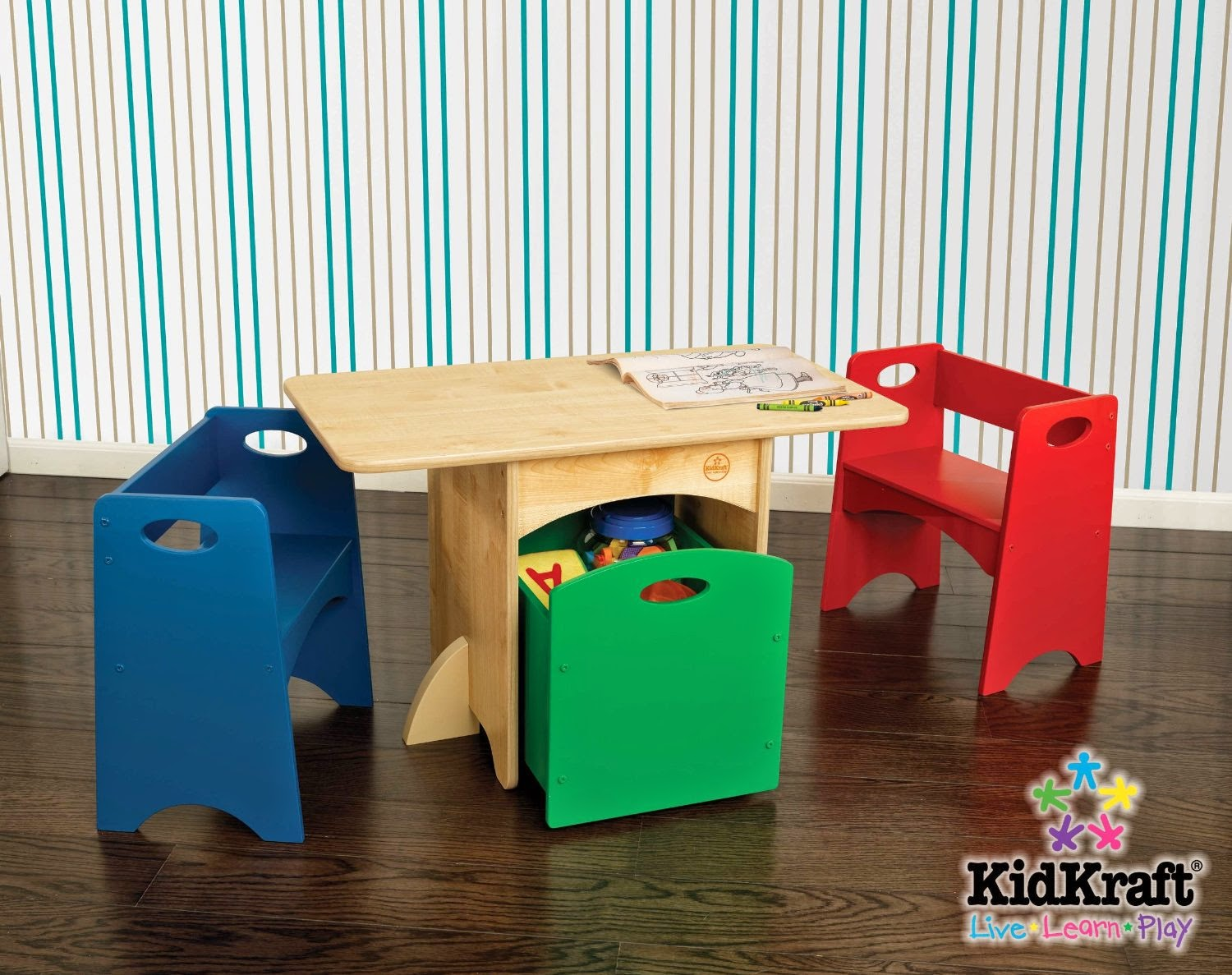 Buy Kidkraft Table With Primary Benches 26161