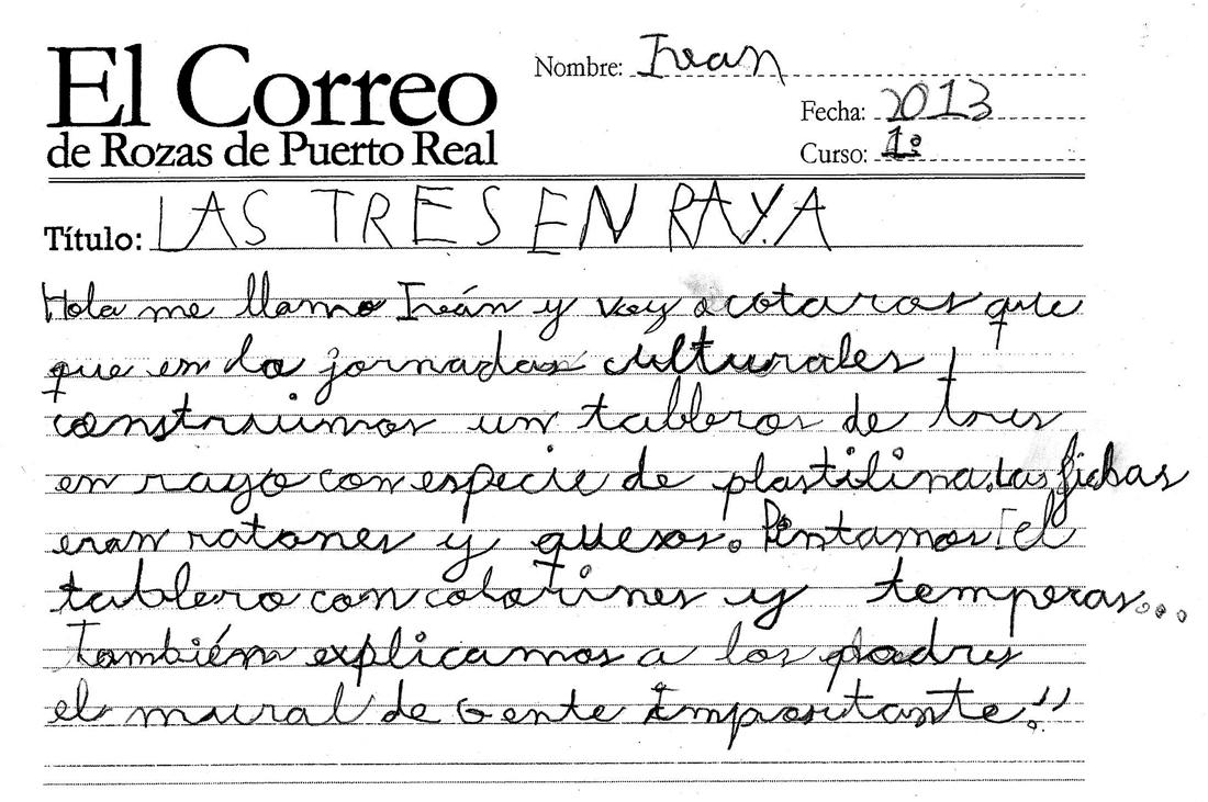 El correo de rozas de puerto real las tres en raya for Horario correos puerto real