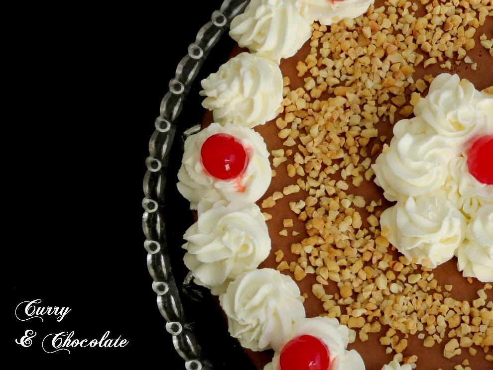 Tarta de brownie y mousse de chocolate para mi cumpleaños