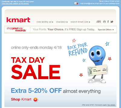 Click to view this Apr. 17, 2011 Kmart email full-sized