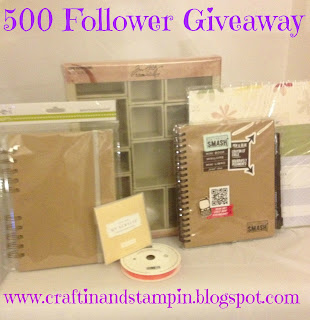 Craftin and Stampin 500 Follower Giveaway
