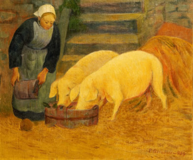 Tic A Tac Who Is Passing By The Way Thought Two Little Pigs At Edge Of Village Road It Was Old Woman As Round Willow Which