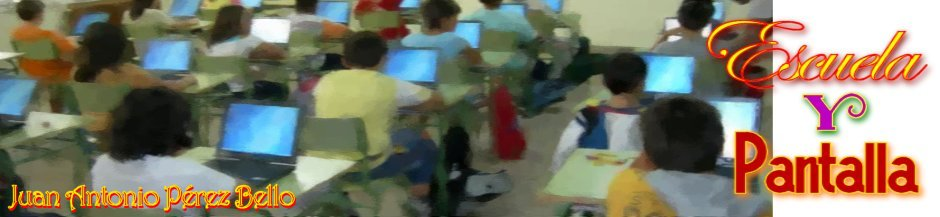 Escuela y pantalla.