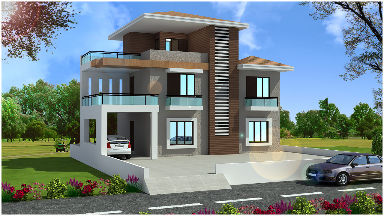 Latest Front Elevation Design : Ghar planner leading house plan and design