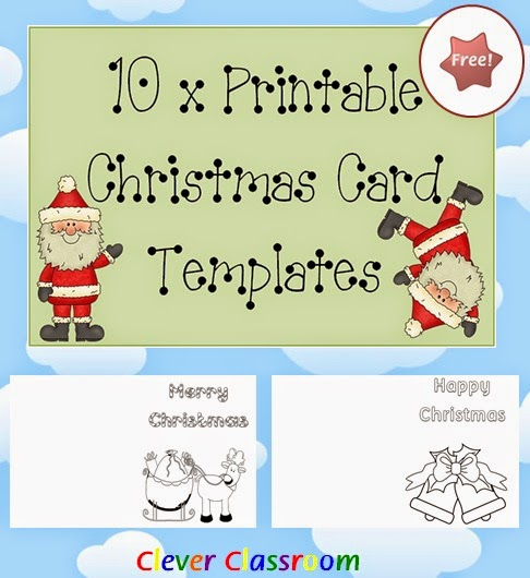 Free Christmas card templates for kids this December