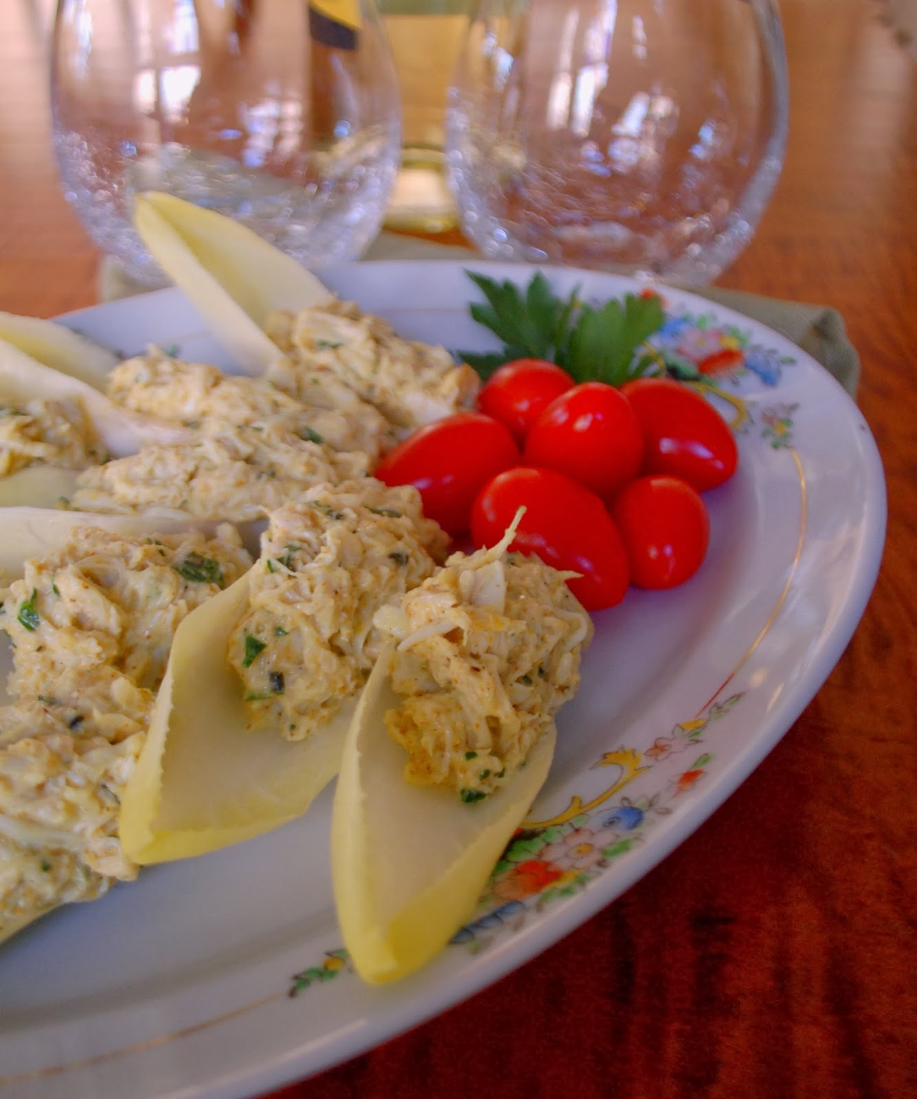 Endive Boats With Avocado, Pomegranate, & Crab Salad Recipes ...