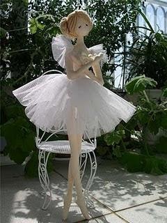 boneca bailarina com molde e PAP (DIY)