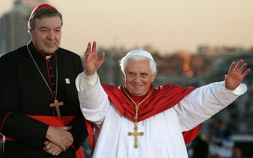 George Pell & Pope Benedict.