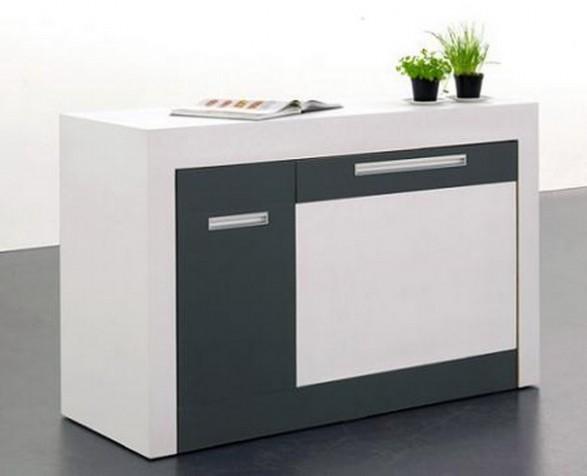 Cocina compacta y ampliable para espacios peque os for Muebles de cocina para espacios pequenos