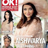 Aishwarya Rai Bachchan on the OK! Magazine cover