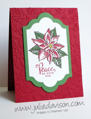 Stampin' Up! Reason for the Season Christmas Card #stampinup #christmas www.juliedavison.com 2015 Holiday Catalog