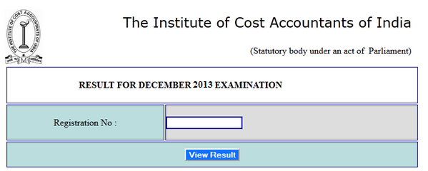 ICWAI Inter December Final Result 2013, ICWAI CMA Result examicai.in