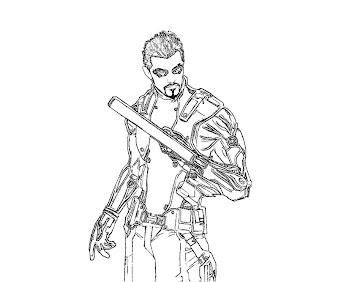 #8 Deus Ex Coloring Page
