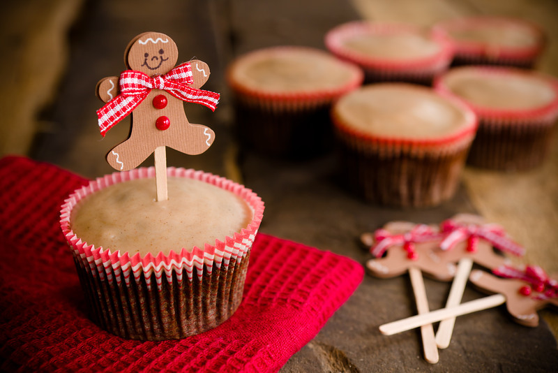 Chocolate Gingerbread Cupcakes | Cupcake Project