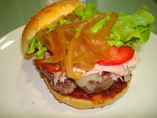 Hamburguesa de ternera casera gourmet