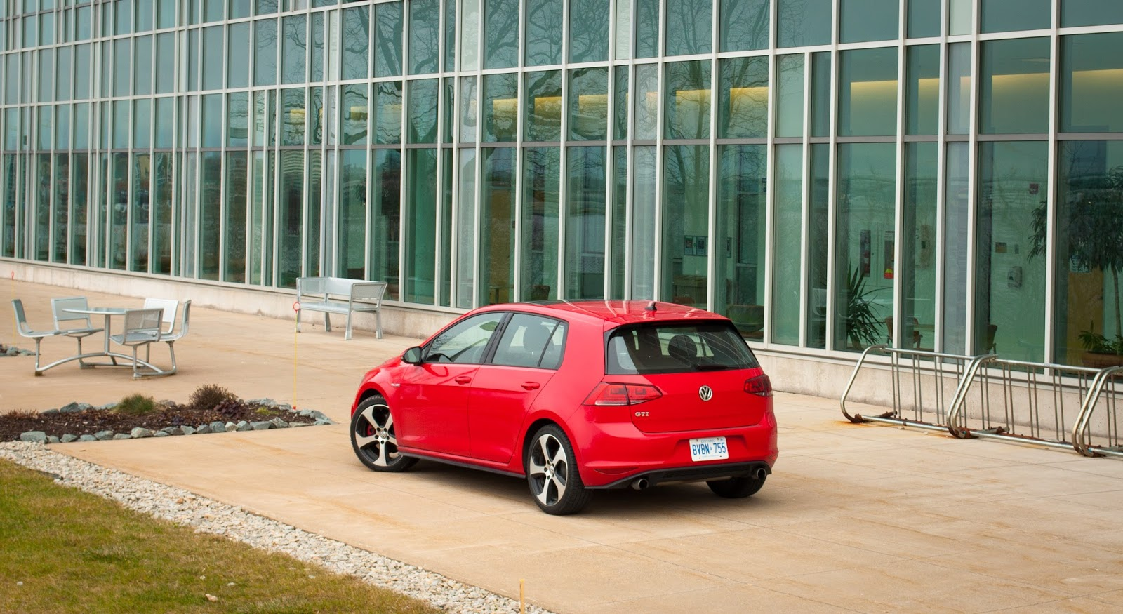 2015 Volkswagen Golf GTI red rear
