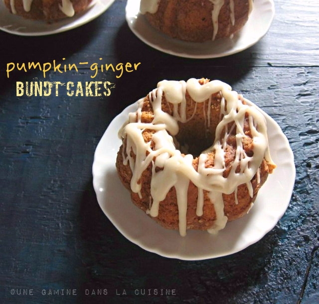 Pumpkin-Ginger Bundt Cakes with Brown Butter Glaze