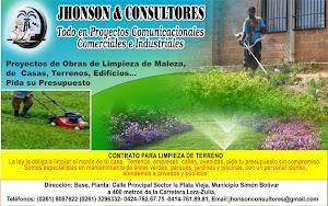 JHONSON&CONSULTORES TODO EN PROYECTOS COMUNICACIONALES COMERCIALES E INDUSTRIALES C.A