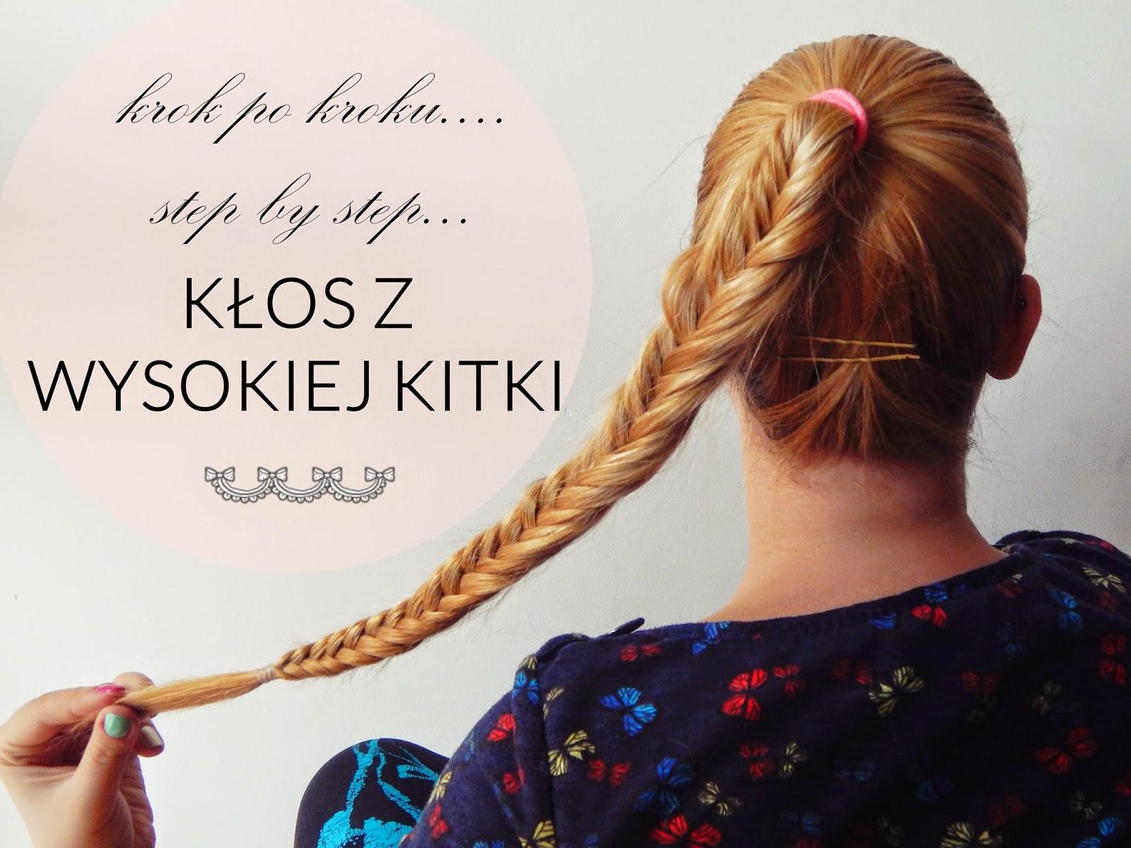 kłos, diy, fishtail, ponytail, step by step