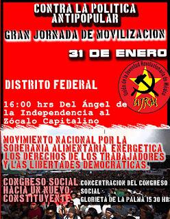 Contra la Politica Antipopular Movilizacion 31 de Enero