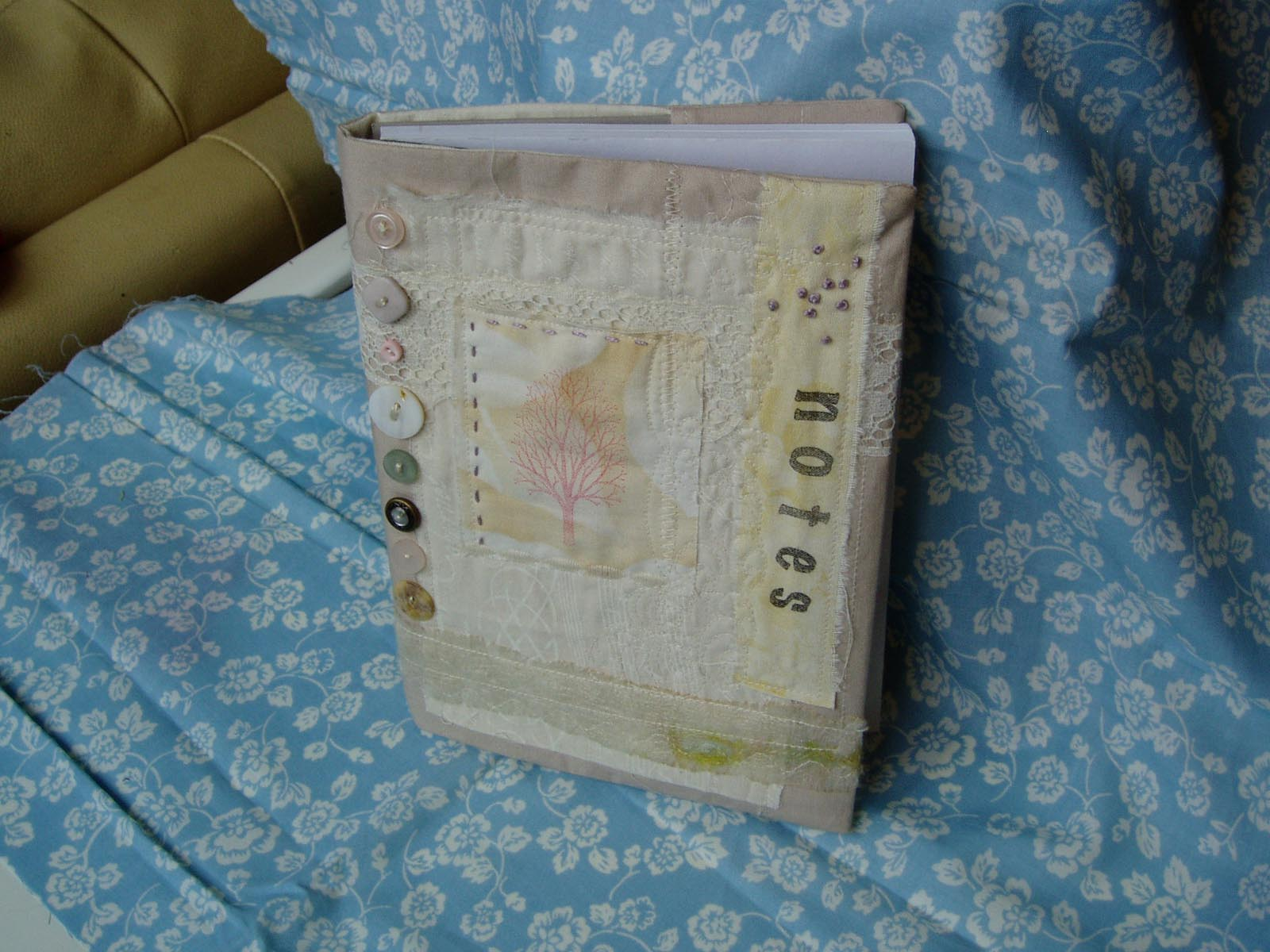 How To Make A Quilted Book Cover : Charlotte scott textile artist fabric book cover tutorial