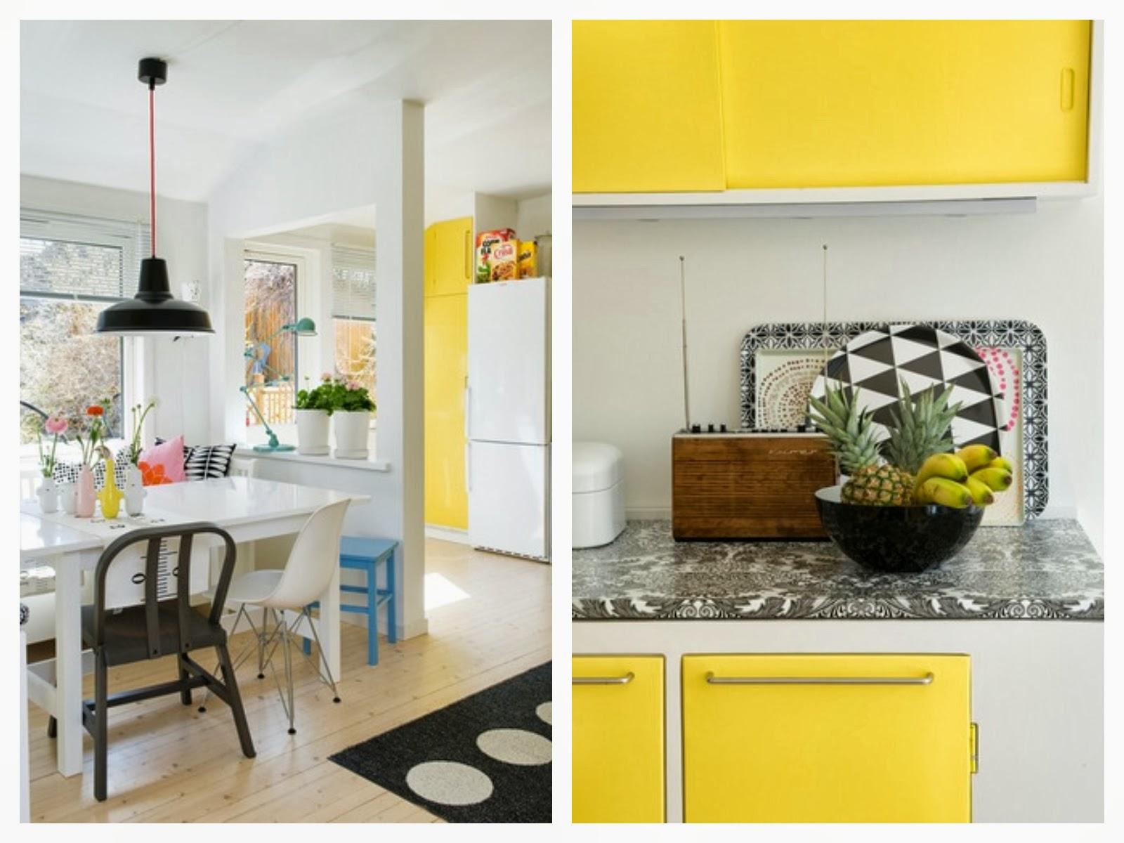 #BA9E11 Olha como ficou lindoo lustre preto que aliais combina com o amarelo  1600x1200 px Balcao De Cozinha Americana Amarelo #2337 imagens