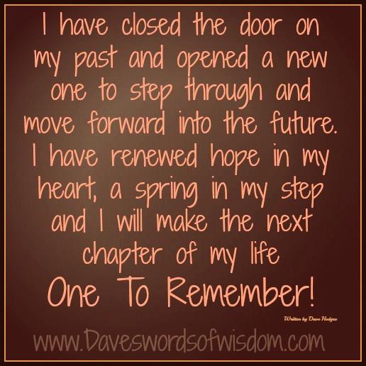 Daveswordsofwisdom.com: Make The Next Chapter One To Remember...