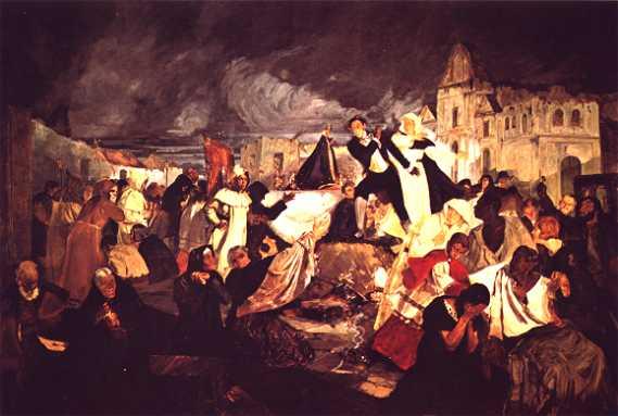 Conoces este cuadro? Terremoto de 1812 de Tito Salas  culturizando