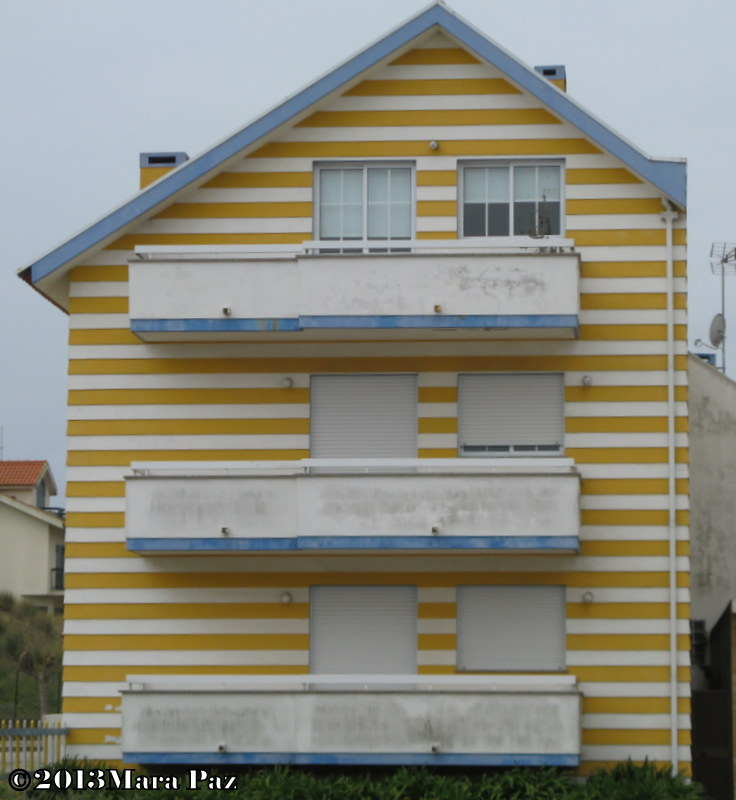 Block of flats overlooking Aveiro Lagoon