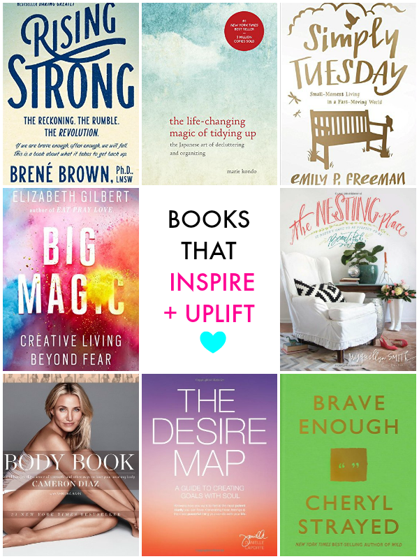 Books that inspire, uplift & help you live a more purposeful life!