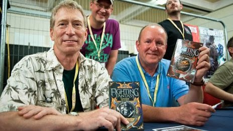 Steve Jackson and Ian Livingstone book signing at the UK Games Expo