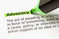 Green highlighter pen highlighting the word Advocacy