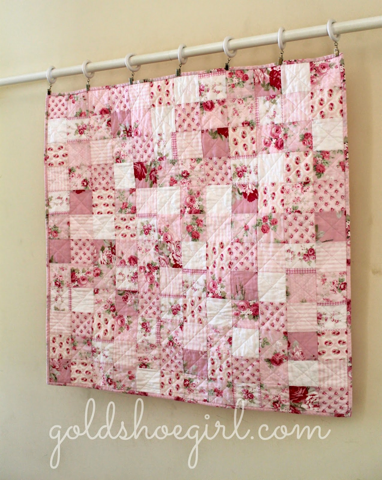 Gold Shoe Girl: Pretty in Pink Baby Girl Quilt : pink patchwork quilts - Adamdwight.com