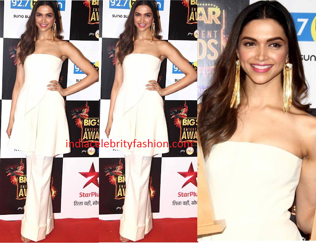 Deepika Padukone in stella mccartney White Dress