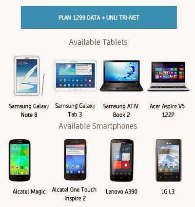 Smart Bro offers 3 Gadget Plus Plan with Free Data and Unli-TRINET