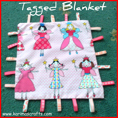 baby tagged blanket tutorial