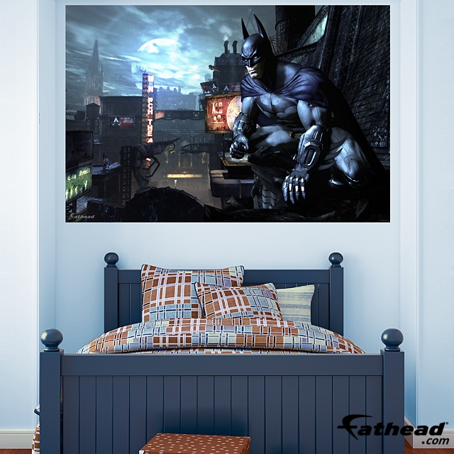 fathead launches batman arkham city video game wall