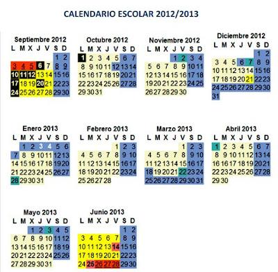 Anpe madridreligion nuevo calendario escolar 2012 2013 for Calendario eventos madrid