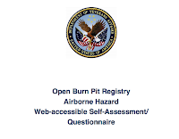 Proposed Open Burn Pit Registry Questionnaire