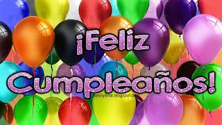feliz cumpleaños imagen con globos