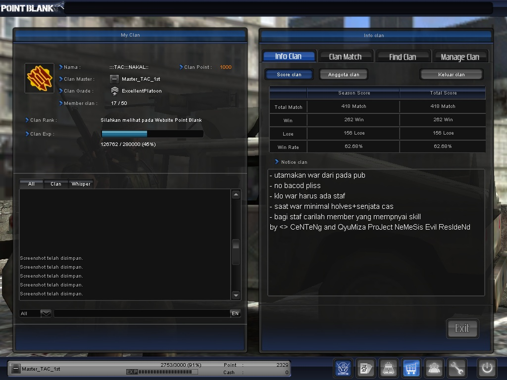 download cheat gb pangkat point blank